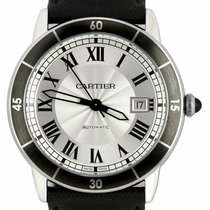 Cartier Ronde Croisière de Cartier Steel 42mm Silver Roman numerals United States of America, New York, Smithtown