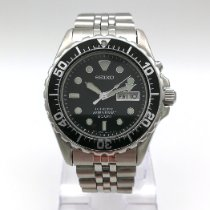 Seiko Kinetic Steel 42mmmm Black No numerals