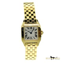 Cartier Santos Demoiselle Cartier Demoiselle W25063X9 18k Gold White Dial 21mm W-161 новые