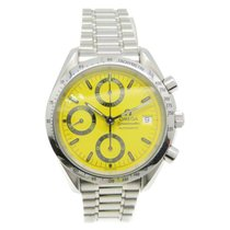 Omega Speedmaster Date Steel 38mm Yellow No numerals United States of America, New York, Greenvale