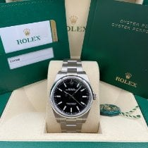 Rolex Oyster Perpetual 39 Steel 39mm Black No numerals United States of America, New York, New York