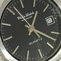 Philip Watch Caribe Philiph Watch Caribbean Eta Swiss Date Quartz 26m Dial Black 1990 pre-owned