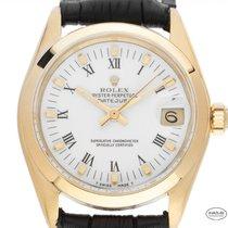 Rolex Datejust Or jaune 31mm Blanc Romains
