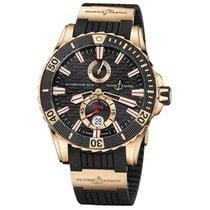 Ulysse Nardin Diver Chronometer Pозовое золото 44mm Чёрный Без цифр