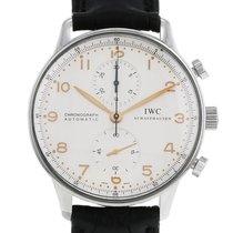 IWC Portugieser Chronograph Stahl 41mm Silber Arabisch