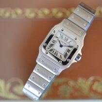 Cartier Santos Galbée новые Кварцевые Часы с оригинальными документами и коробкой W20017D6