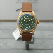 Oris Big Crown Pointer Date Bronce 40mm Verde Arábigos