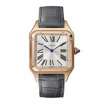 Cartier Santos Dumont Rose gold 43.5mm Silver Roman numerals United States of America, New York, New York