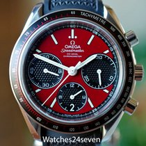 Omega Speedmaster Racing pre-owned 40mm Red Chronograph Date Tachymeter Rubber