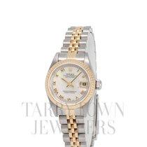 Rolex Lady-Datejust Gold/Stahl 26mm Perlmutt Römisch