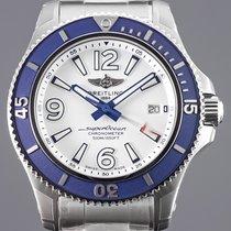 Breitling Superocean 42 Acero 42mm Blanco Arábigos