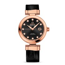 Omega De Ville Ladymatic Or rose 34mm Noir