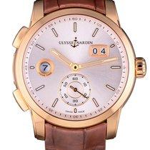 Ulysse Nardin 3346-126/91 Rose gold Dual Time 42mm pre-owned