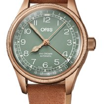 Oris Big Crown Pointer Date Bronce 36mm Verde Arábigos