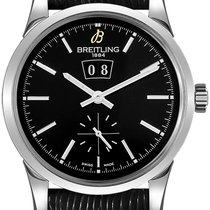 Breitling Transocean 38 Steel 38mm Black No numerals