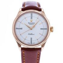 Rolex Cellini Time Ouro rosa 39mm Branco
