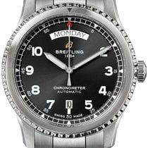 Breitling Aviator 8 Steel 41mm Black Arabic numerals United States of America, New Jersey, Princeton
