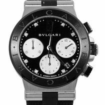 Bulgari Diagono Stal 37mm Czarny
