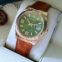 Rolex Datejust Yellow gold 36mm Green No numerals United States of America, Colorado, Greeley