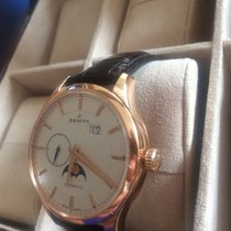 Zenith Captain Moonphase Or rose 40mm Argent France, paris