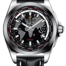 Breitling Galactic Unitime Steel 44mm Black No numerals United States of America, New Jersey, Princeton