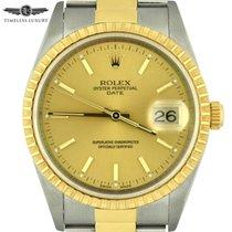 Rolex Oyster Perpetual Date Gold/Steel 34mm Champagne No numerals United States of America, Georgia, Atlanta