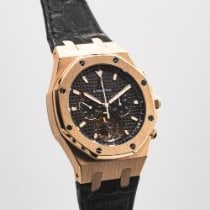 Audemars Piguet Royal Oak Tourbillon Rose gold 44mm Black No numerals