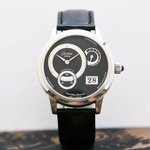 Glashütte Original PanoMaticReserve Platinum 39.3mm Black No numerals