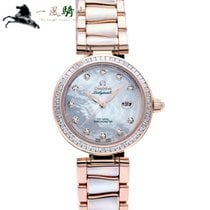 Omega Or rose Remontage automatique Blanc 34mm occasion De Ville Ladymatic