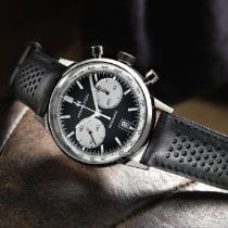 Hamilton Intra-Matic pre-owned 42mm Black Chronograph Date Leather