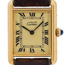 Cartier Tank Vermeil 24mm Champagne Roman numerals United States of America, California, West Hollywood