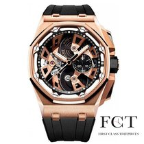 Audemars Piguet Royal Oak Offshore Tourbillon Chronograph Roségoud 45mm Zwart Geen cijfers