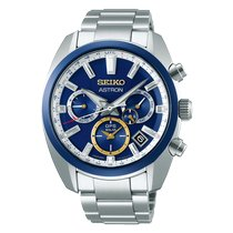 Seiko Astron Acero 42.7mm Azul Sin cifras
