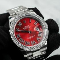 Rolex Datejust Acero 41mm Rojo Romanos
