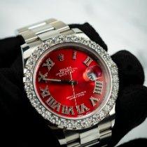 Rolex Datejust Steel 41mm Red Roman numerals Australia, Melbourne
