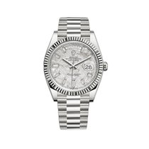 Rolex Day-Date 40 White gold 40mm Silver United States of America, New York, New York