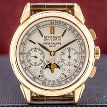 Patek Philippe Or rose Remontage manuel Argent 41mm occasion Perpetual Calendar Chronograph