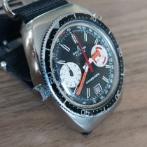 Breitling Chrono-Matic (submodel) Steel 37mm Black No numerals United Kingdom, London