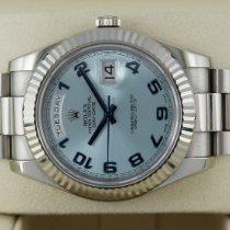 Rolex Day-Date II White gold 41mm Blue