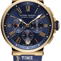Ulysse Nardin Marine Chronograph Rose gold 43mm Blue Roman numerals