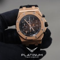 Audemars Piguet Royal Oak Offshore Chronograph подержанные Чёрный Кожа