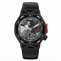 Hublot Techframe Ferrari Tourbillon Chronograph Carbon 45mm Black No numerals