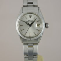 Rolex Oyster Perpetual Lady Date Stahl 26mm Silber Keine Ziffern