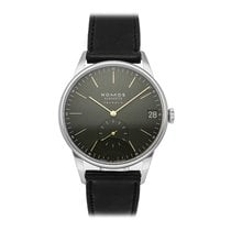 NOMOS Orion Neomatik pre-owned 40.5mm Green Date Leather