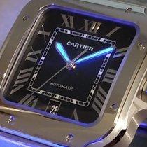 Cartier Santos (submodel) Сталь 39.8mm Синий Римские