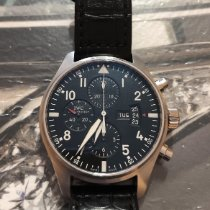 IWC Pilot Chronograph Acciaio 43mm Nero Arabo Italia, Roma