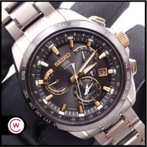 Seiko Titanio Cuarzo Negro Sin cifras 45mm usados Astron GPS Solar Chronograph