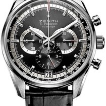 Zenith El Primero 36'000 VpH Steel 42mm Black No numerals United States of America, Texas, Houston