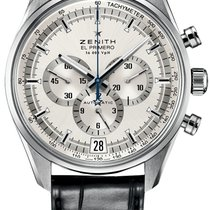 Zenith El Primero 36'000 VpH Steel 42mm Silver No numerals United States of America, Texas, Houston