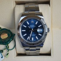 Rolex Datejust II Staal 41mm Blauw Geen cijfers Nederland, Puttershoek